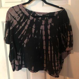 Urban Outfitters Black Tie-Dye Crop Top